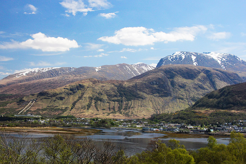 Ben Nevis above Fort William