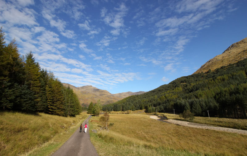 Walking Glen Finnan